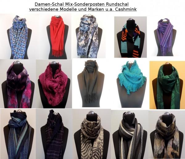 100x Orginal Cashmink Damenschal Mix-Sonderposten Rundschal verschiedene Modelle