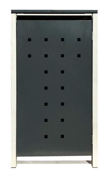 1 Tailor Mülltonnenbox Basic für 120 Liter Tonne /Stanzung 7 /Anthrazit / Grau