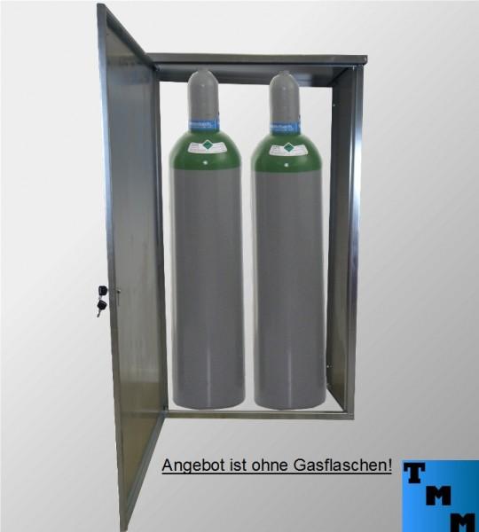 TMM 2x 33kg Gasflaschen-Schrank Verzinkt o. Rückdwand Camping Werkstatt Betrieb