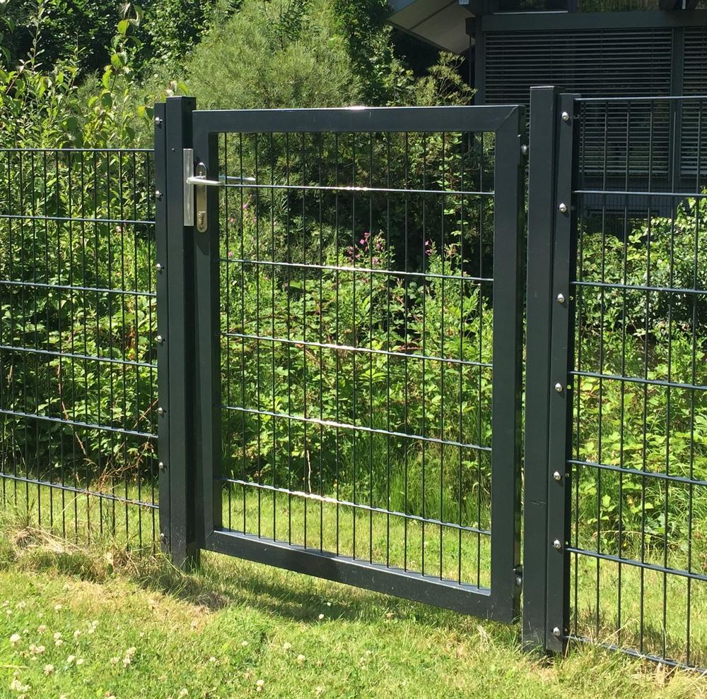 für Stabmattenzaun Tür Tor Pforte Anthrazit oder Grün Gartentor BxH 100x150cm