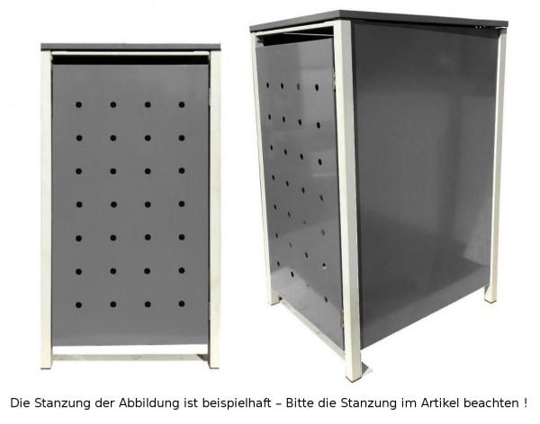 1 Tailor Mülltonnenbox Basic für 240 Liter Tonne Stanzung 6 Silbergrau / Grau