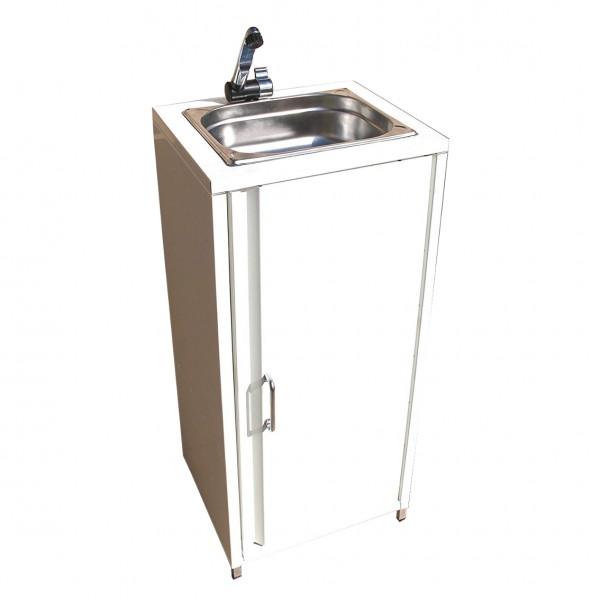 Mobiler Spülbecken Waschbecken Spüle Handwaschbecken Weiß inkl. Zubehör