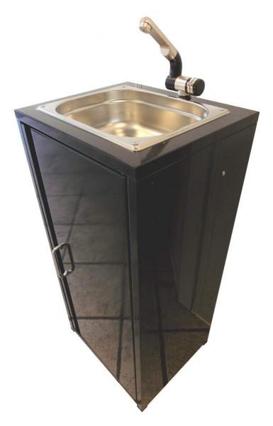 Mobiler Spülbecken Waschbecken Spüle Handwaschbecken Schwarz inkl. Zubehör