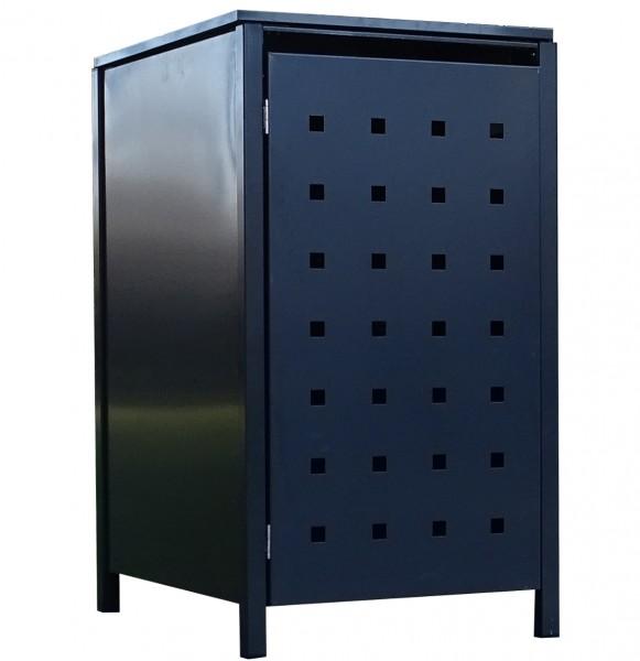 1 Tailor Mülltonnenbox Basic für 240 Liter Tonne Stanzung 2 komplett Anthrazit