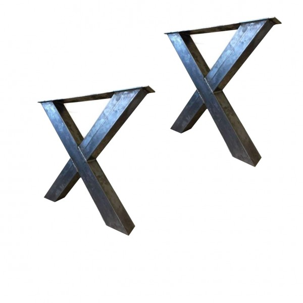 2 Tischgestelle Gestell Breite: 99cm Höhe: 72cm Tischkreuz Stahl Unlackiert
