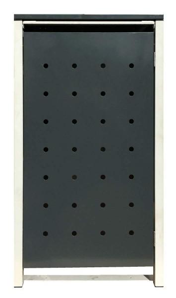 1 Tailor Mülltonnenbox Basic für 240 Liter Tonne /Stanzung 1 /Anthrazit / Grau