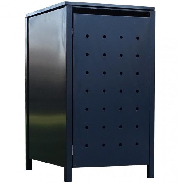 1 Tailor Mülltonnenbox Basic für 120 Liter Tonne Stanzung 1 komplett Anthrazit