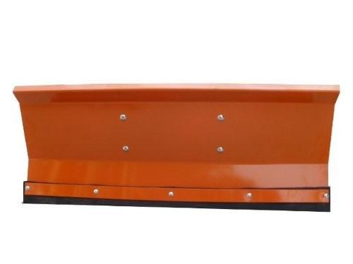 Schneeschild Orange 175x40 cm gekantet Universalhalterung Einachser Rasenmäher