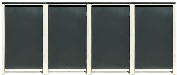 4 Tailor Mülltonnenboxen Basic für 240 Liter Tonne /o.Stanzung /Anthrazit / Grau