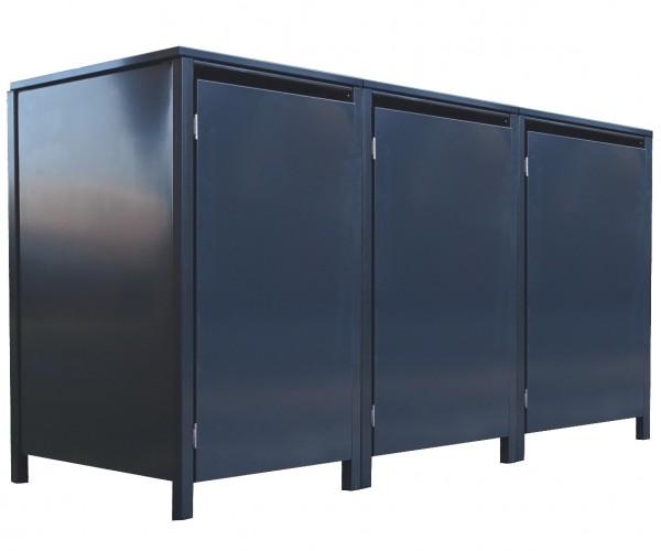 3 Tailor Mülltonnenboxen Basic für 240 Liter Tonne o.Stanzung komplett Anthrazit