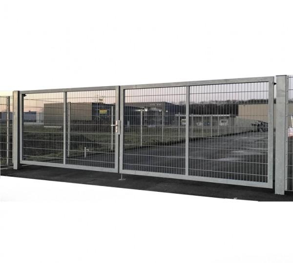 Doppelflügeltor 900cm x 200cm Einfahrtstor für Industrie mit stabilem Rahmen