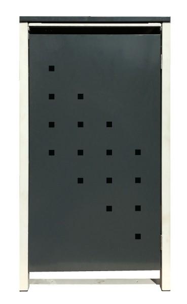 1 Tailor Mülltonnenbox Basic für 120 Liter Tonne /Stanzung 3 /Anthrazit / Grau