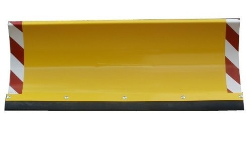 Universal Schneeschild Reflektoren Gelb 125x40cm für Einachser Rasentraktor