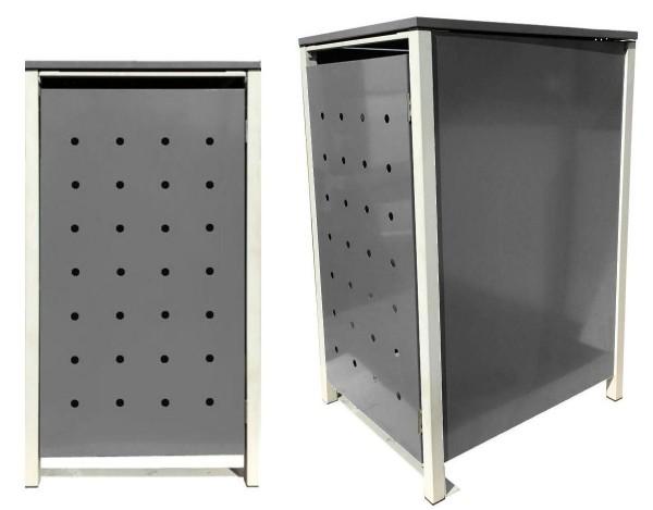 1 Tailor Mülltonnenbox Basic für 120 Liter Tonne Stanzung 1 Silbergrau / Grau