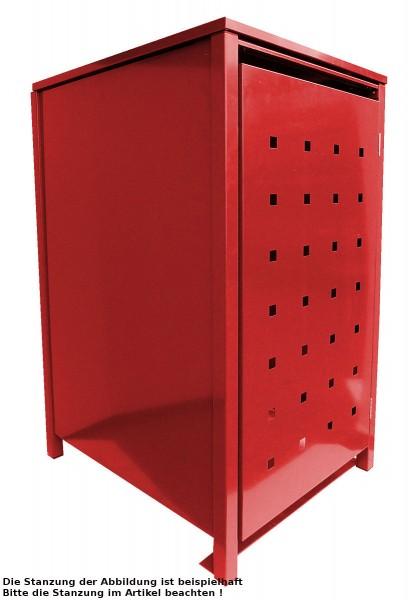 1 Tailor Mülltonnenbox Basic für 120 Liter Tonne Stanzung 6 komplett in Rot