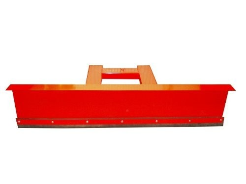 Räumschild Schneeschild 90° Winkel Rot für Gabelstapler 100x40 cm