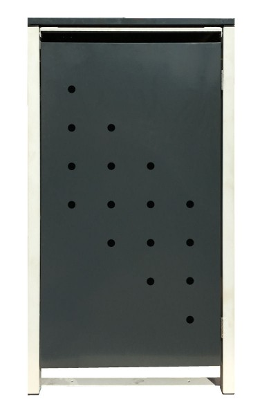 1 Tailor Mülltonnenbox Basic für 120 Liter Tonne /Stanzung 4 /Anthrazit / Grau