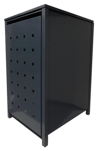 1 Tailor Mülltonnenbox Basic für 120 Liter Tonne Stanzung 4 komplett Schwarz