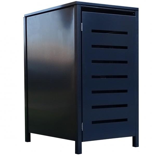 1 Tailor Mülltonnenbox Basic für 120 Liter Tonne Stanzung 6 komplett Anthrazit