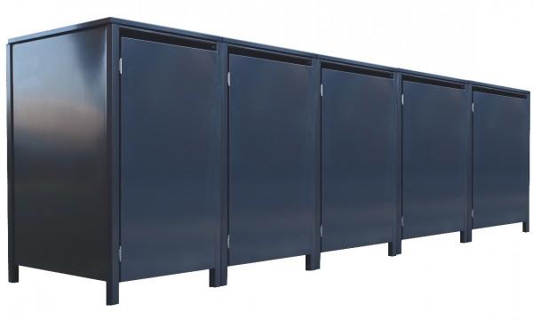 5 Tailor Mülltonnenboxen Basic für 120 Liter Tonne o.Stanzung komplett Anthrazit