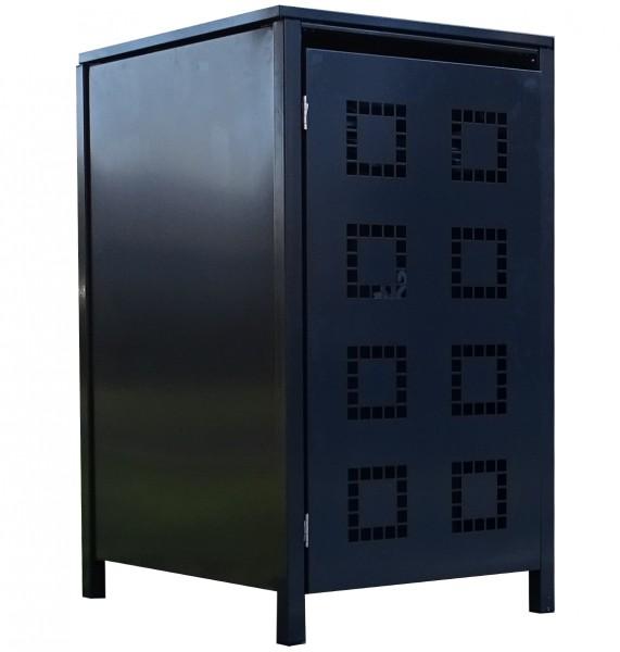 1 Tailor Mülltonnenbox Basic für 240 Liter Tonne Stanzung 5 komplett Anthrazit