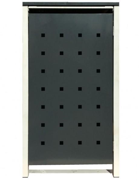 1 Tailor Mülltonnenbox Basic für 120 Liter Tonne /Stanzung 2 /Anthrazit / Grau