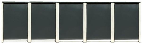 5 Tailor Mülltonnenboxen Basic für 120 Liter Tonne /o.Stanzung /Anthrazit / Grau