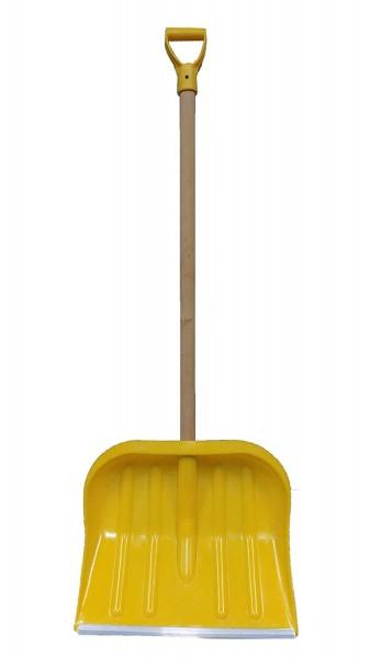 Schneeschieber Schneeschaufel Gelb 49cm x 40cm Schiebekante mit Aluprofil