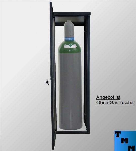 TMM 33kg Gasflaschen-Schrank Anthrazit o.Rückdwand für Camping Werkstatt Betrieb