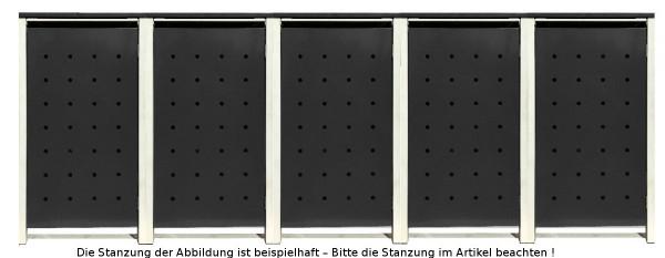 5 Tailor Mülltonnenboxen Basic für 120 Liter Tonnen /Stanzung 2 /Schwarz / Grau