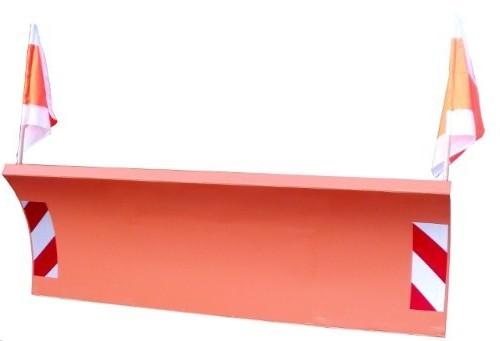 Schneeschild 225x75cm hydraulisch für Multicar, Unimog, Radlader M25, M26, M27