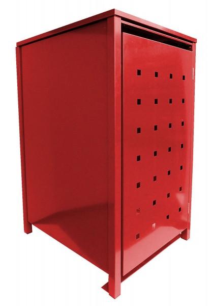1 Tailor Mülltonnenbox Basic für 240 Liter Tonne Stanzung 2 komplett in Rot