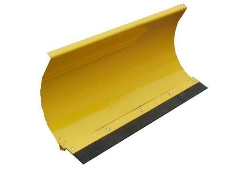 Universal Schneeschild Räumschild Gelb 125x40cm für Einachser Rasentraktor