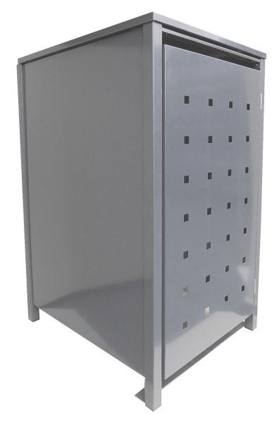 1 Tailor Mülltonnenbox Basic für 240 Liter Tonne Stanzung 2 kompl. Silbergrau