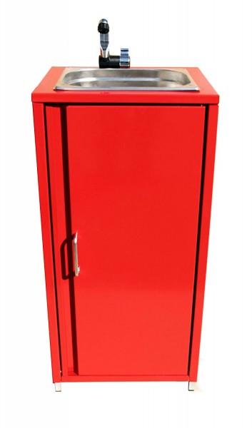 Mobiler Spülbecken Waschbecken Spüle Handwaschbecken Rot inkl. Zubehör