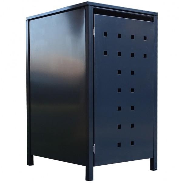1 Tailor Mülltonnenbox Basic für 240 Liter Tonne Stanzung 7 komplett Anthrazit