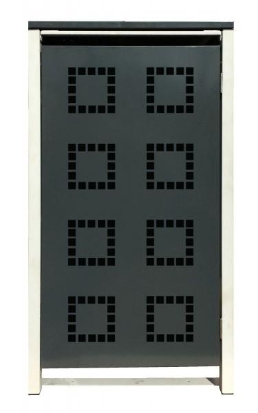1 Tailor Mülltonnenbox Basic für 120 Liter Tonne /Stanzung 5 /Anthrazit / Grau