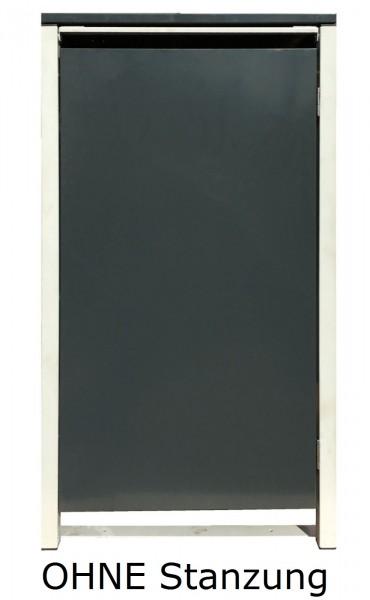 1 Tailor Mülltonnenbox Basic für 120 Liter Tonne /o.Stanzung /Anthrazit / Grau