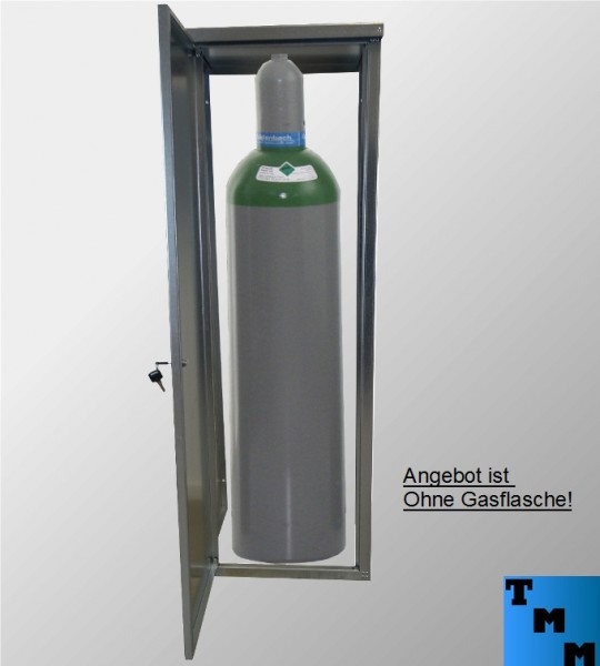TMM 33kg Gasflaschen-Schrank Verzinkt o. Rückdwand für Camping Werkstatt Betrieb