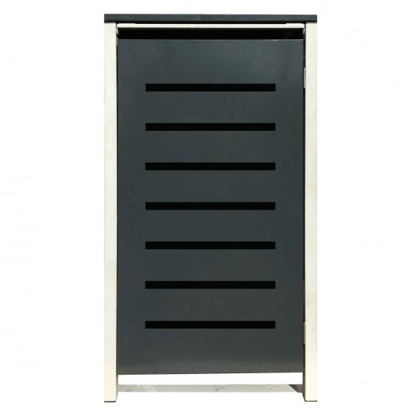 1 Tailor Mülltonnenbox Basic für 120 Liter Tonne /Stanzung 6 /Anthrazit / Grau