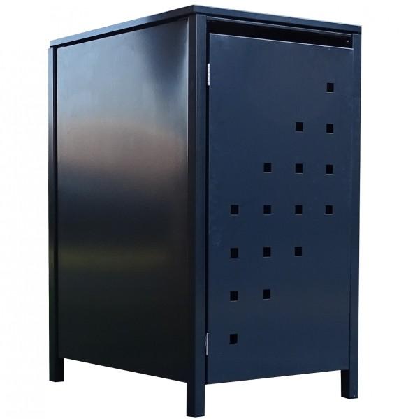 1 Tailor Mülltonnenbox Basic für 240 Liter Tonne Stanzung 3 komplett Anthrazit