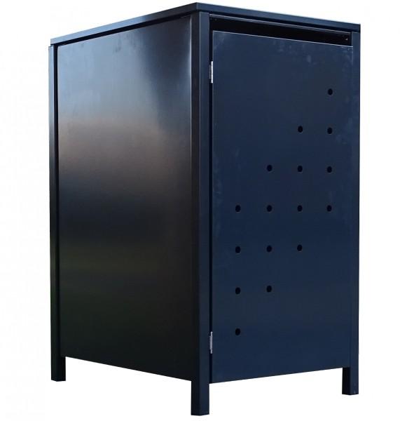 1 Tailor Mülltonnenbox Basic für 240 Liter Tonne Stanzung 4 komplett Anthrazit