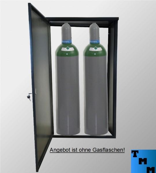 TMM 2x33kg Gasflaschen-Schrank Anthrazit o.Rückdwand Camping Werkstatt Betrieb