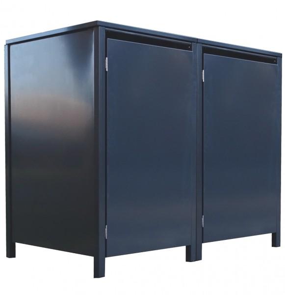 2 Tailor Mülltonnenboxen Basic für 240 Liter Tonne o.Stanzung komplett Anthrazit